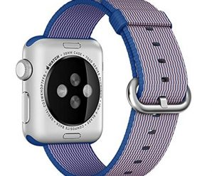 Apple Watch band, Oitom® Woven Nylon Watch Band Strap (Royal blue, Apple Watch 38mm)