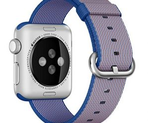 Apple Nylon Watchbands-Valuebuybuy Sports Royal Woven Nylon Wrist Band Strap Bracelet For 38mm Apple Watch Fits 129-195mm wrists-Royal Blue