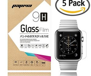 Apple Watch Screen Protector 42mm, Pajuva® 0.2mm 9H HD Ultra Clear Tempered Glass Screen Protector (5-Pack)