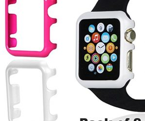 Apple Watch Cover Case Pack of 2 (38MM White + Rose)