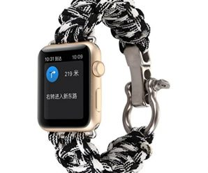 For iWatch Apple Watch 42mm, Sunfei NEW Nylon Rope Survival Bracelet Watch Band (J)