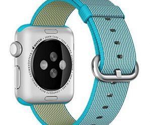 Apple Watch band, Oitom Woven Nylon Watch Band Strap (Scuba Blue, Apple Watch 38mm)