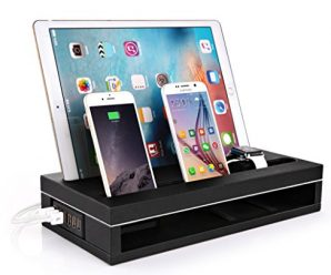 Apple Watch Charging Stand with 6-Port USB Smart Charger for iPad/iPhone/Tablet and Apple Watch