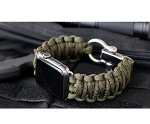 For iWatch Apple Watch 42mm, Sunfei NEW Nylon Rope Survival Bracelet Watch Band (D)