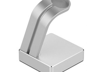 iClever Premium Aluminum Apple Watch Charging Stand, Silver