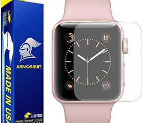 Apple Watch 38mm Anti-Glare Screen Protector (Series 2) [Full Coverage] [2 Pack] ArmorSuit MilitaryShield w/ Lifetime Replacements – Anti-Bubble Shield Matte for Apple Watch 2 38mm