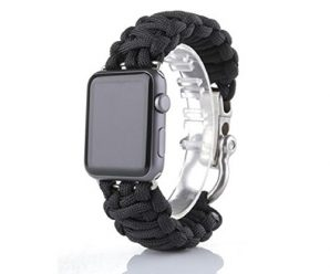 For iWatch Apple Watch 42mm, Sunfei NEW Nylon Rope Survival Bracelet Watch Band (C)
