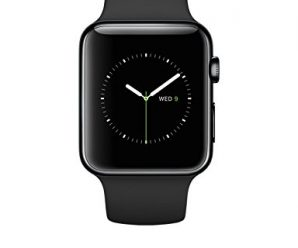 Apple Watch 42mm Stainless Steel Case w/ Black Sport Band