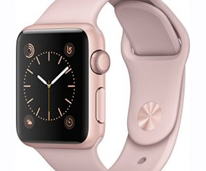 Apple Watch Series 1 38mm Smartwatch (Rose Gold Aluminum Case, Pink Sand Sport Band)