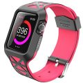 Apple Watch Case, i-Blason Unity Series Premium Hybrid Protective Bumper Protective Case for Apple Watch 42 mm 2015 Release [Not Compatible with 38 mm] (Pink)