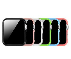 [6 Color Pack] Fintie Apple Watch Case 42mm, Ultra Slim Lightweight Polycarbonate Hard Protective Bumper Cover for All Versions 42mm Apple Watch Series 2 / 1 / Original (2015) with Retail Packaging