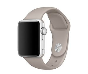 Apple Watch Band, Kungix Soft Silicone Replacement Strap for Apple Watch Series 1, Series 2, Sport & Edition (3 Pieces of Bands Included for 2 Lengths) 38mm Pebble
