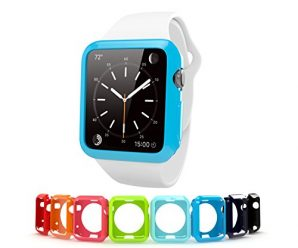 Apple Watch Case 42mm, Cindick Flexible Anti Scratch TPU Rubber Protective Ultra-Thin Edition 2015 iWatch Cover Case 42mm Super Lightweight 8pcs / pack Surface Cover Decorative Case