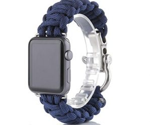 For iWatch Apple Watch 42mm, Sunfei NEW Nylon Rope Survival Bracelet Watch Band (A)