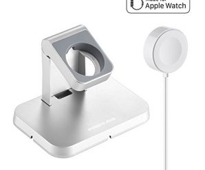 [ Apple MFi Certified ] Apple Watch Charger, Poweradd Magnetic Charging Dock and Stand for Apple Watch / iWatch 38mm & 42mm with Detachable Magnetic Charging Cable, Apple Watch Series 1 / 2 – 3.3ft/1m
