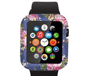 Iwatch Case 38mm,Apple Watch Sport Edition Cover Elegant Beautiful Luxury Purple Flowers Design Series 1 Series 2