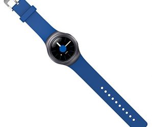 Samsung Gear S2 Strap OKCS® TPU Band with Watchband Adapter Connector Arm Wrist Strap, in blue