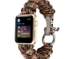For iWatch Apple Watch 42mm, Sunfei NEW Nylon Rope Survival Bracelet Watch Band (F)