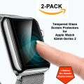 Apple Watch Screen Protectors (Twin Pack) 42mm-Fits Series 1 and 2, 9H Tempered Glass for Maximum Protection, Beautiful HD Clarity, Excellent Responsiveness, Lifetime No-Hassle Replacement Guarantee
