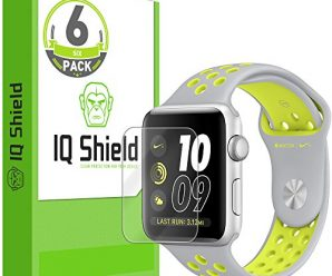 Apple Watch Nike+ Screen Protector (42mm)(6-Pack), IQ Shield LiQuidSkin Full Coverage Screen Protector for Apple Watch Nike+ HD Clear Anti-Bubble Film – with