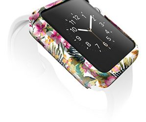 42mm Apple Watch Case, X-Doria Revel Bumper Fashion Case, Floral Palm – Compatible with Apple Watch Series 1, Series 2 and Nike+