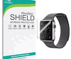 Apple Watch 42mm (Series 1 / Series 2 Updated) Screen Protector [6-PACK] [Military-Grade] RinoGear Sport Premium HD Invisible Clear Shield w/ Lifetime Replacements