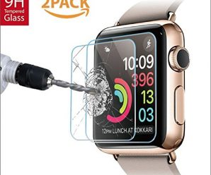 Amazingforless Premium [2 Pack] 42mm Apple Watch Anti-Scratch Tempered Glass Screen Protector (Only Covers the Flat Area)