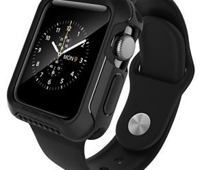 Apple Watch 2 Case 42mm, Caseology [Vault Series] Rugged Protective Slim Shock Resistant TPU Bumper [Matte Black] for Apple Watch Series 2 – 42mm Only