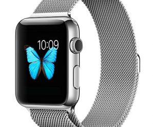 Apple Watch Band, 42mm Milanese Loop Mesh Smooth Stainless Steel Strap Freely Fully Magnetic Closure Clasp Metal Strap Wrist Band Replacement Bracelet for Iwatch & Sport & Edition Silver 42mm
