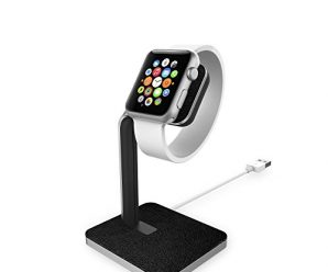mophie charging Dock for Apple Watch – Black and Silver