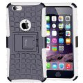 iPhone 6S Case,iPhone 6 Case,Armor Heavy Duty Protection Rugged Dual Layer Hybrid Shockproof Case Protective Cover for Apple iPhone 6 6S 4.7 Inch with Built-in Kickstand (White)