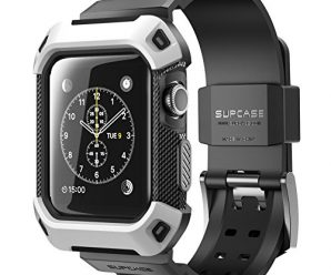 Apple Watch Case, SUPCASE [Unicorn Beetle Pro] Rugged Protective Case with Strap Bands for Apple Watch / Watch Sport / Watch Edition 2015 [38 mm, Not Compatible with 42 mm] (White)