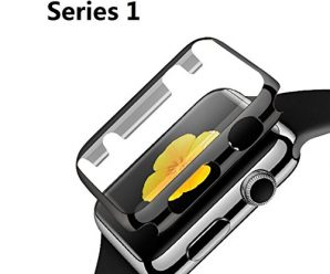 Apple watch case, iitee(tm) Electroplate Slim Case with Screen Protector for Apple Watches (Series 1- 42mm Jet Black)