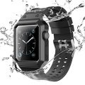 Vitech Apple Watch Case with Band, Shock-proof and Shatter-resistant Protective Case with Silicone Sport iWatch Band for Apple Watch Series 2 Series 1 Sport and Edition (38mm-Set-Black)