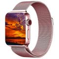 Apple Watch Band 38mm, KYISGOS Magnetic Closure Clasp Milanese Mesh Loop Stainless Steel Replacement iWatch Band for Apple Watch Series 2, Series 1, Rose Gold