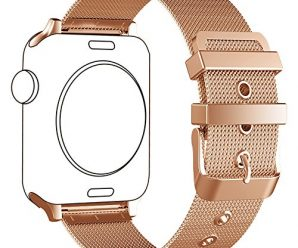 Apple Watch Band, LWCUS 38MM New Milanese Loop Iwatch Band With Classic Buckle, Gorgeous Apple Watch Accessories for Apple Watch Series3 Series2 Series1, Hermes, Edition, Sport( 38MM Luxurious Gold)