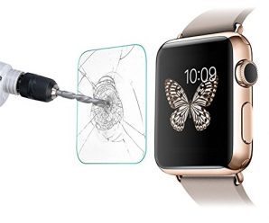 Apple Watch Screen Protector 42mm,LikeItY Tempered Glass Screen Protector for Apple Watch Series 1/Series 2 [Cover Flat Area Only][Anti-Fingerprint][Anti-Bubble]
