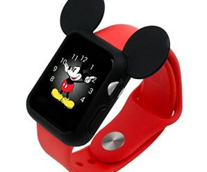 Soft Silicone Protective Apple Watch Case Cover Disney characters Mickey Mouse ears / 42mm / Black