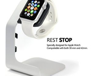 Tranesca Apple Watch stand for Apple Watch serial 1,2,3 (Works with both 38mm and 42mm Apple Watch-Silver)