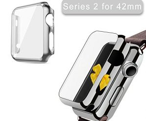 Apple Watch Series 2 Case 42mm, 2win2buy Full Cover Apple Watch Series 2/Nike Case Slim Hard PC Plated Protective Bumper Cover & 0.2mm Shockproof Sheld Guard Screen Protector for iWatch 2016, Silver