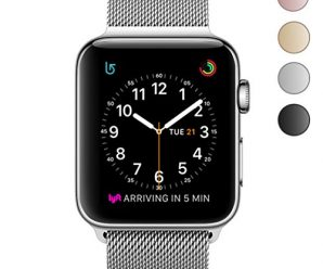 OROBAY Apple Watch Band 38mm 42mm, Stainless Steel Milanese Mesh Loop Magnetic Closure Clasp Apple Watch Wristband Strap for Apple iWatch Series 3, Series 2, Series 1 Sports&Edition