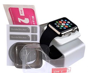 ULTIMATE Apple Watch Accessories Bundle: Apple Watch Stand [Docking Station] | Apple Watch Case X2 | FREE Additional Apple Watch Screen Protector. Great Bundle For The Apple Watch 42mm Edition