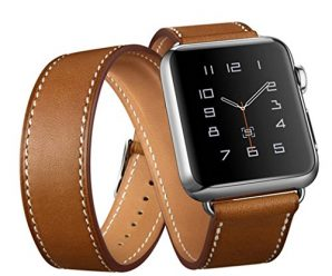 AutumnFall Long Leather Band Double Tour Bracelet Watchband for Apple Watch Series 1, Series 2 38mm (Brown)