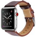 Marge Plus Apple Watch Band 38mm, Alligator Texture Leather Straps iWatch Band for Apple Watch Series 3 Series 2 Series 1 Sport Edition – Dark Brown