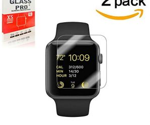 [2 Pack]-42mm Apple Watch Screen Protector – Maleage 0.3mm Tempered Glass Screen Protector£¬ Scratch Resistant Anti-bubbles,[Only Covers the Flat Area]