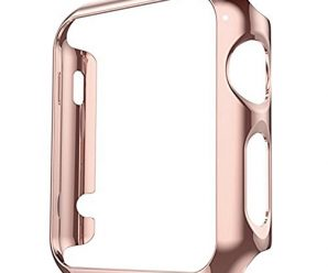 Apple Watch Case Series 2 Vanki Thin PC iWatch Protective Cover for 38mm 42mm (38mm, Rose Gold)