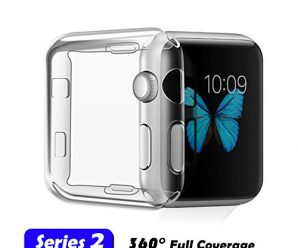 Apple Watch Case, TIVTO TPU Soft All-around Full Coverage Cover With Built-in Screen Protector for iWatch 2015/2016 All Models (Apple Watch Case 2 (2016) 38mm)