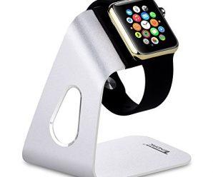 Tendak Charging Stand Bracket Docking Station Stock Cradle Holder for Apple Watch Both 38mm & 42mm, Aluminum Build Stand