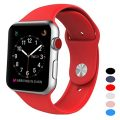 Sport Band for Apple Watch 42mm, BANDEX Soft Silicone Strap Replacement Wristbands for Apple Watch Sport Series 3 Series 2 Series 1(Red M/L)