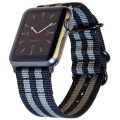 Apple Watch Band NYLON NATO 42mm Space Gray & Black Woven Canvas iWatch Strap with Adapters and Buckle for Apple Watch Sport, Nike+, Series 3, 2, 1 – Multi Colors & Sizes by CARTERJETT